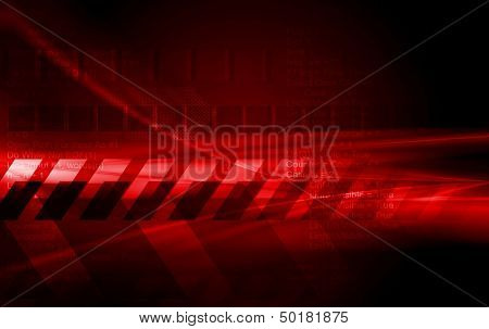 Abstract hi-tech vector red background