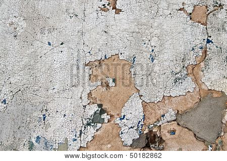 Chipped Paint And Concrete Texture