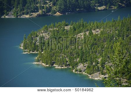 Diablo Lake Aerial Photo