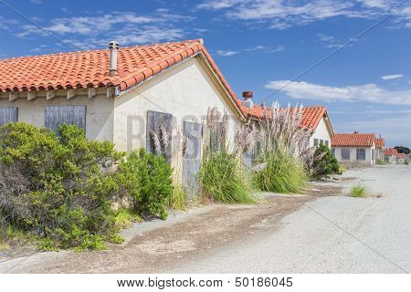 Abandoned Buildings At Historic Fort Ord