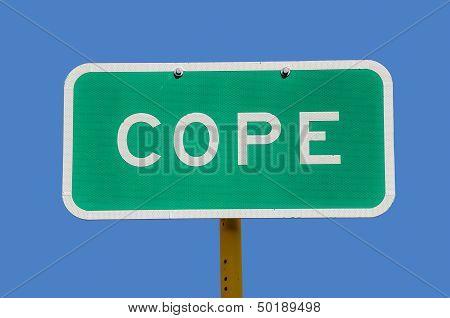 Cope Sign
