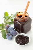 image of plum fruit  - Plum jam with freshly picked plums - JPG