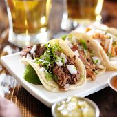 foto of tacos  - authentic mexican barbacoa - JPG