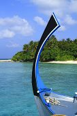 pic of dhoni  - Bow of a traditional Dhoni Maldives Indian Ocean - JPG