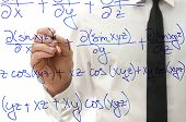 Постер, плакат: Writing Complicated Math Equation On Virtual Board