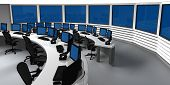 foto of controller  - Surveillance control center with several monitors and screens - JPG