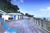stock photo of west indies  - Terrace over the Bay of Fort de France, Martinique island, west indies