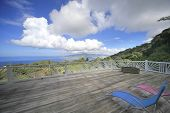 picture of west indies  - Terrace over the Bay of Fort de France, Martinique island, west indies