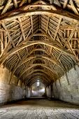 pic of tithe  - 13th Century tithe Barn located near Bath England - JPG