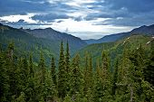 pic of olympic mountains  - Olympic Peninsula  - JPG