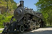 foto of locomotive  - Old Western Steam Locomotive  - JPG