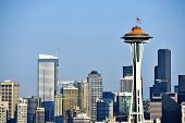 stock photo of washington skyline  - Seattle Skyline  - JPG
