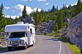 stock photo of recreational vehicle  - Yellowstone RV Trip - JPG