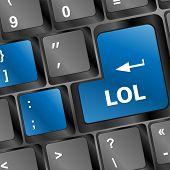 pic of lol  - lol button on computer keyboard pc key - JPG