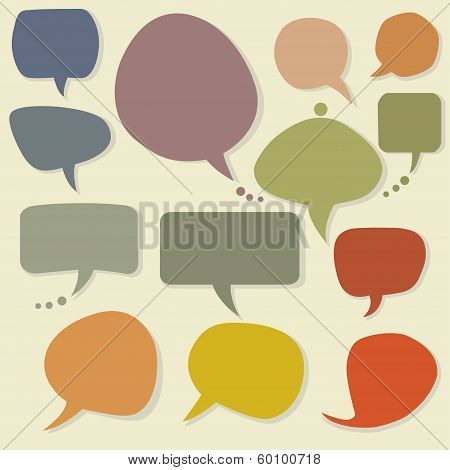 Colorful Speech Bubbles Set