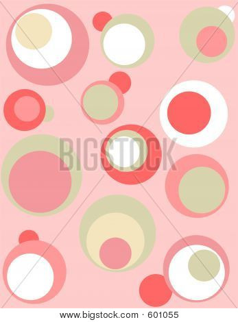 Retro Design With Circles In Pink