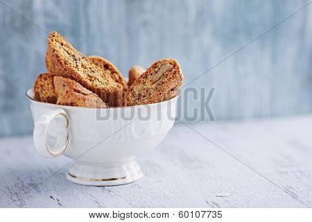 Cantuccini Cookies in a Tea Cup