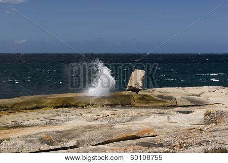 Bicheno blowhole, Tasmania, Australia