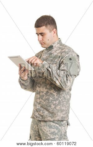 Soldier Isolated On White