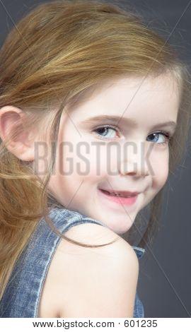 Blond Girl  In Denim