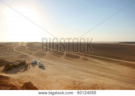 Tourist Stop In Sahara