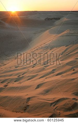 Big Sand Dunes In Sahara