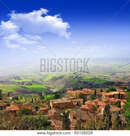 scenic Tuscany, Volterra, Italy