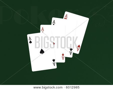 Pocker Cards With 4 Aces