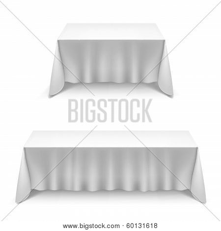 Two tables  with white cloth
