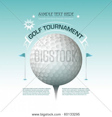 Golf tournament invitation banner background Vector illustration