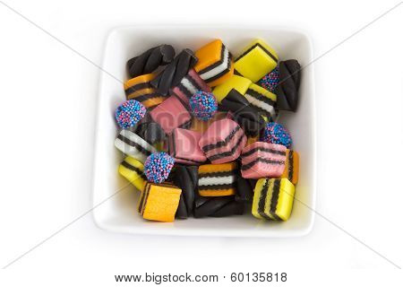 Licorice Allsorts in a Plate
