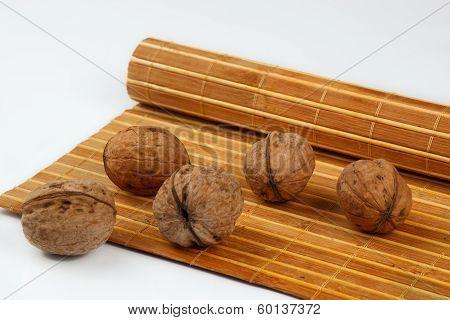 walnuts on a mat