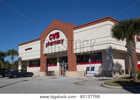JACKSONVILLE, FL-FEBRUARY 17, 2014: A CVS Pharmacy in Jacksonville. CVS Pharmacy is the largest pharmacy chain in the United States with more than 7,600 stores.