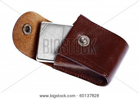 Vintage Leather Case For Lighter