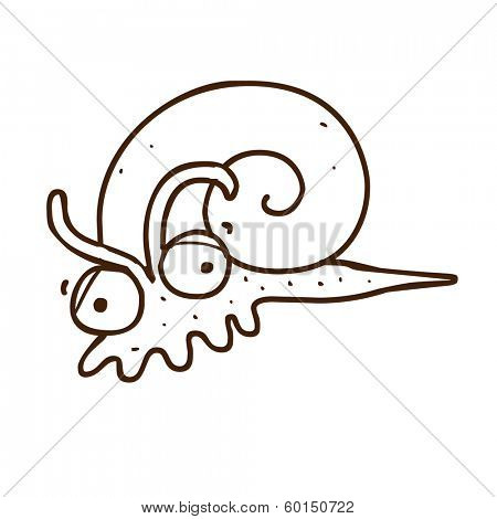 Cute Hand Drawn Vector illustration, black and white vector variant