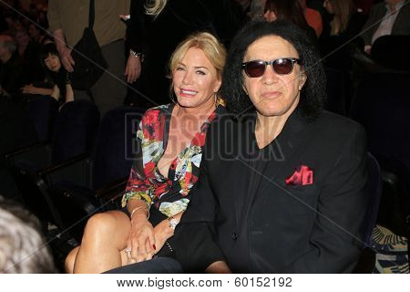 BEVERLY HILLS - FEB 16: Shannon Tweed, Gene Simmons performs in concert at the Saban Theater on February 16, 2014 in Beverly Hills, California