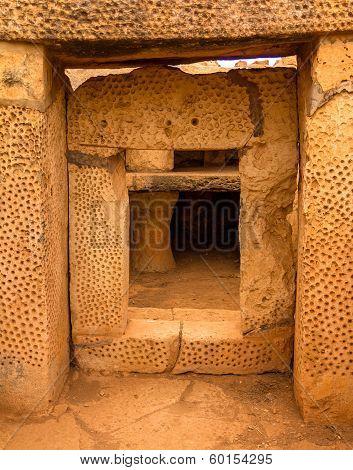 Mnajdra Temple Door