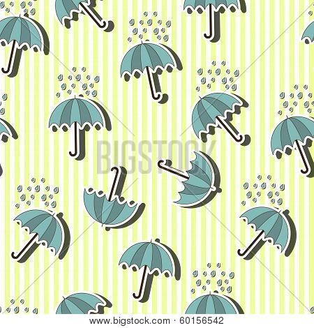 Umbrella seamless pattern