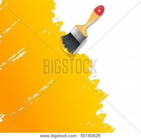 Paint Brush With Splash