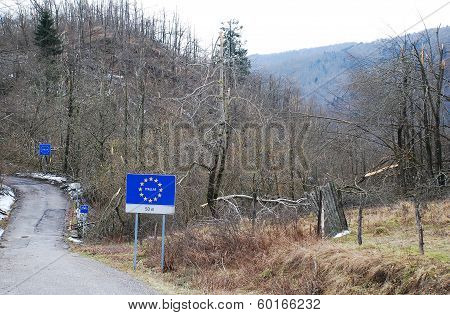 Rime Damaged Trees At Italy-Slovenia Border
