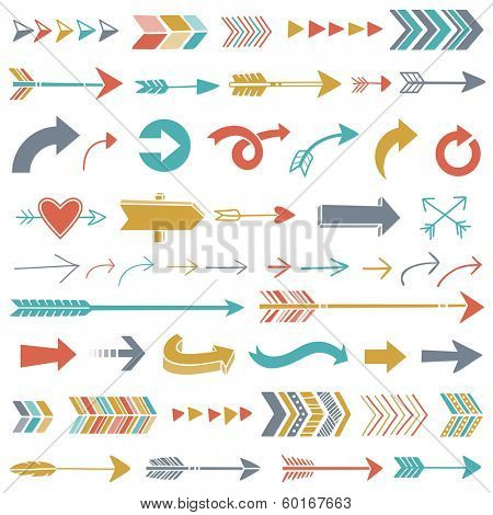 Hipster Arrows poster