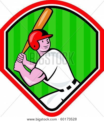 American Baseball Player Cartoon