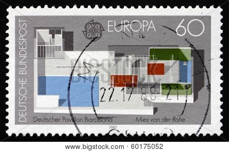 Postage Stamp Germany 1987 German Pavilion, 1928 World's Fair,