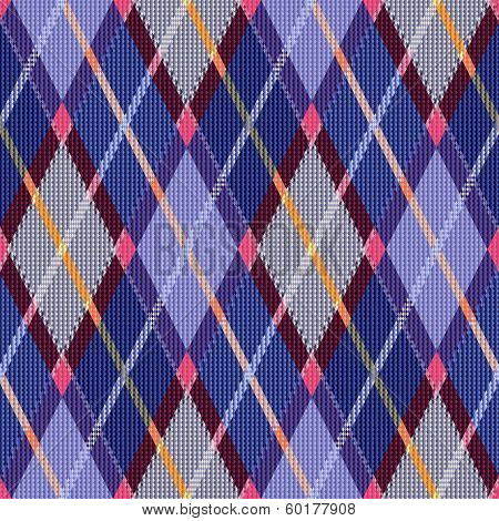 Rhombic Tartan Blue And Pink Fabric Seamless Texture