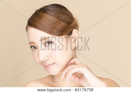 Beautiful asian woman isolated