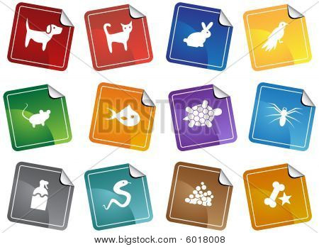Pet Store Sticker Icon Set