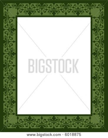 Green Leaf Frame Border