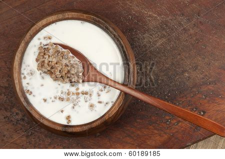 Buckwheat Kasha With Milk
