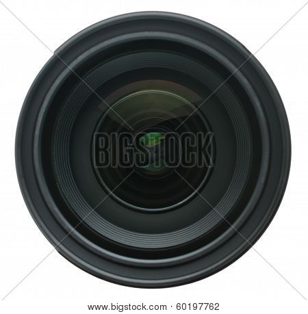 Camera Lens Isolated On White