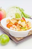 stock photo of thai cuisine  - Red apple salad thai food - JPG